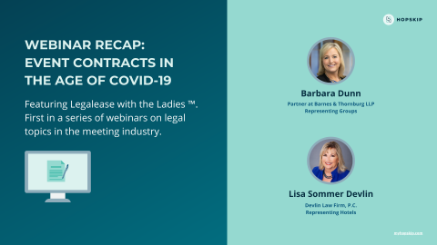 Tips on Navigating Event Contracts in the Age of COVID-19